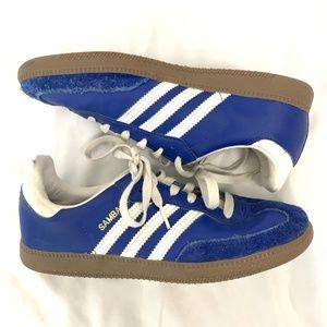 Blue Adidas Boys Samba Sneakers 5.5